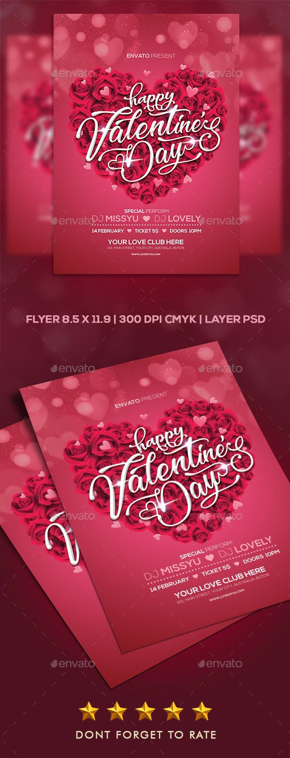 Valentine Flyer Party - Clubs & Parties Events