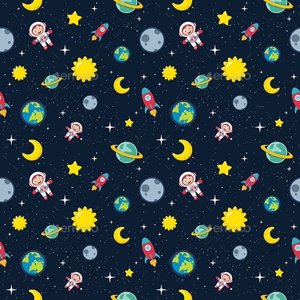 Seamless Pattern of Space - Backgrounds Decorative