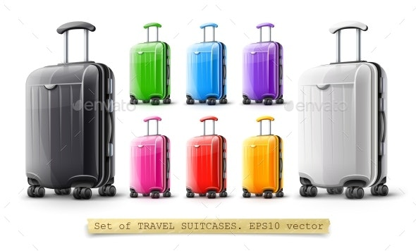 Suitcases for Travel - Travel Conceptual