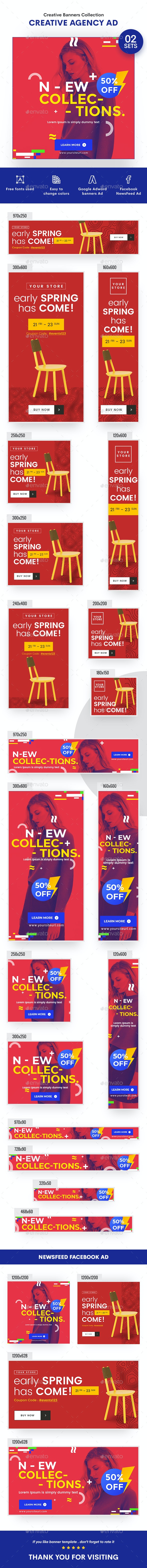 Product Banners Ad - 30 PSD [02 Sets] - Banners & Ads Web Elements
