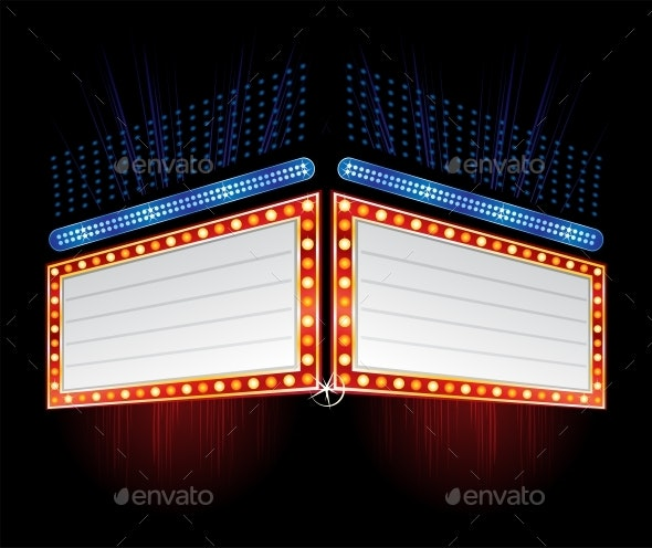 Double Side Neon Sign - Backgrounds Decorative