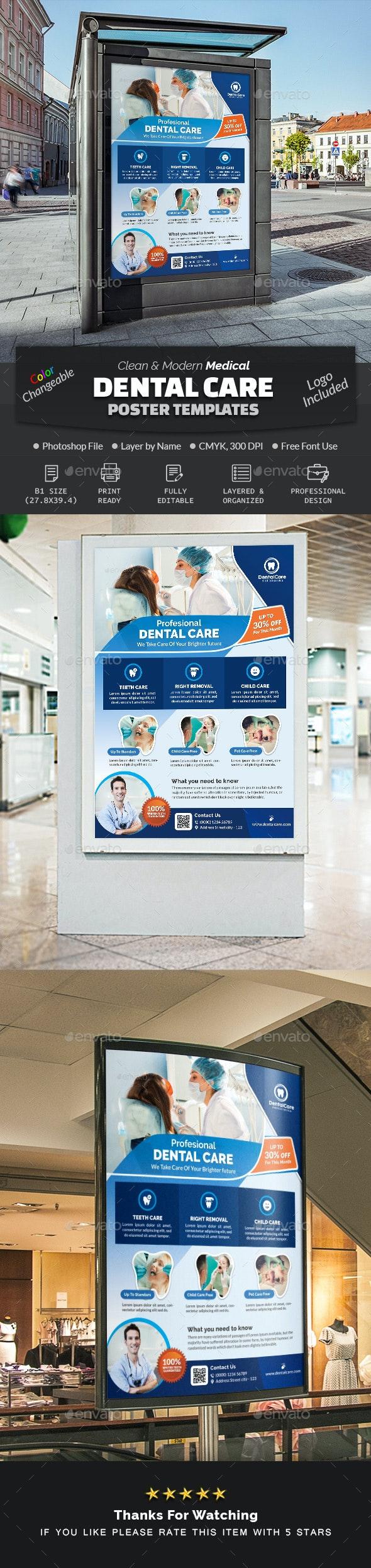 Dental Poster Template - Signage Print Templates