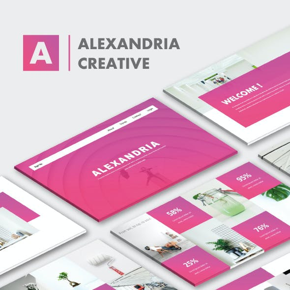 Alexandria Creative Google Slide Templates