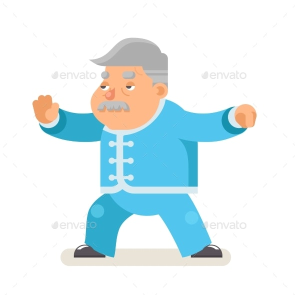 Taichi Wushu Kungfu Fitness Healthy Activities - Sports/Activity Conceptual