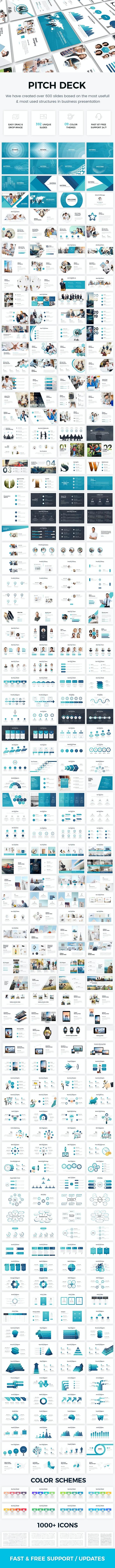 Bundle 2 in 1 Startup Pitch Deck Keynote Template - Business Keynote Templates
