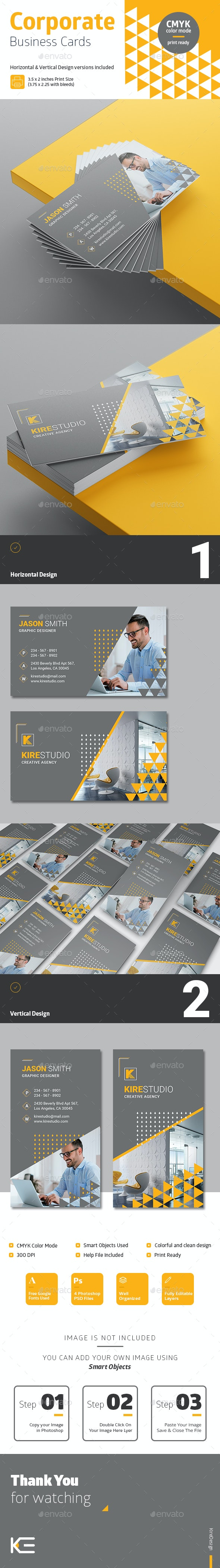 Horizontal & Vertical Corporate Business Cards #4 - Corporate Business Cards
