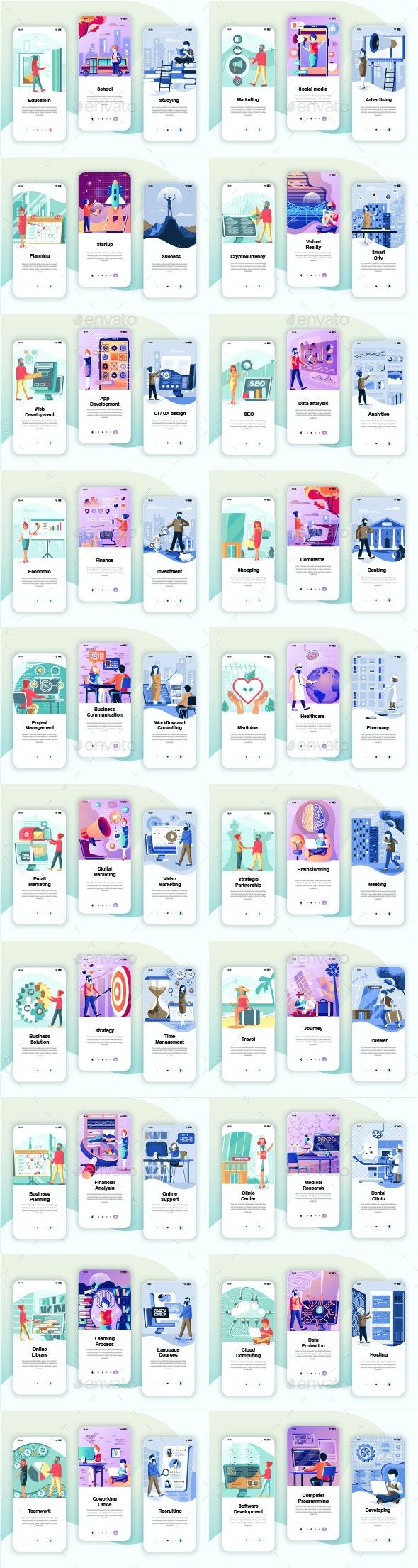 Instagram Stories Mobile App - Web Elements Vectors