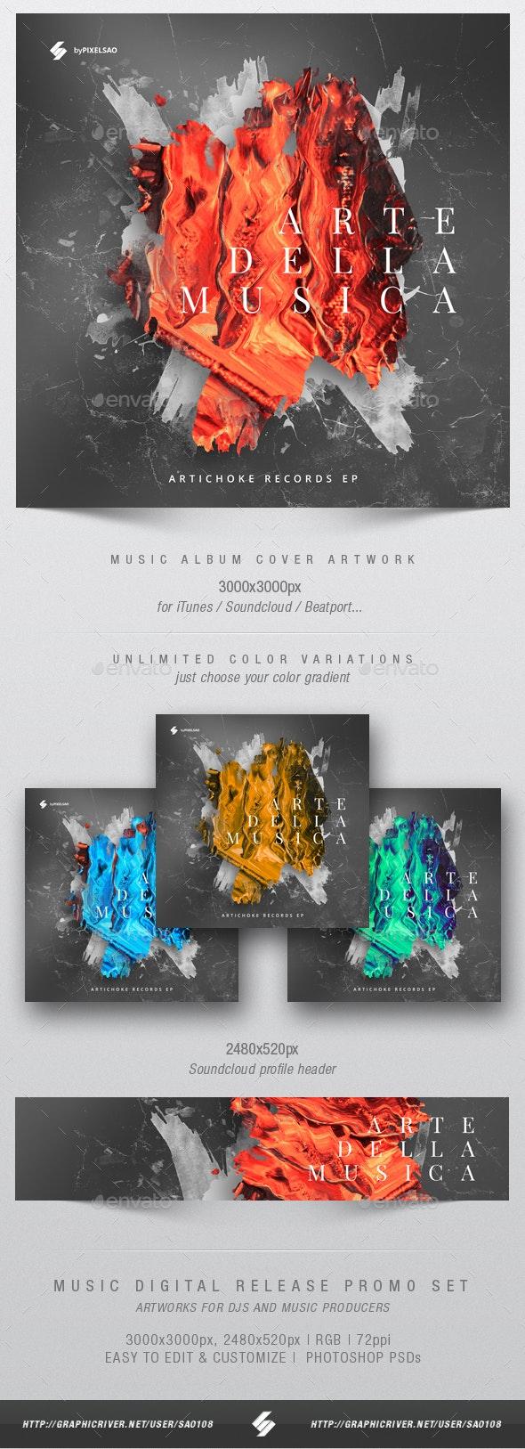 Arte Della Musica - Music Album Cover Artwork Template - Miscellaneous Social Media