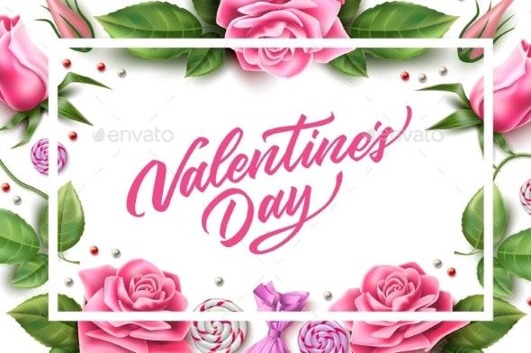 Vector Valentine Day Rose Peony Tulip Flower - Valentines Seasons/Holidays