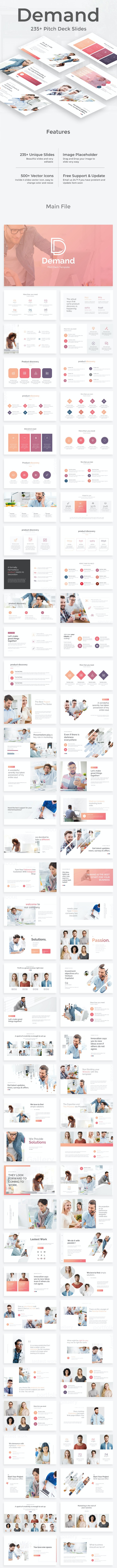 Demand Management Pitch Deck Keynote Template - Business Keynote Templates