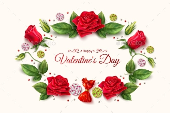 Vector Valentine Day Roses - Valentines Seasons/Holidays