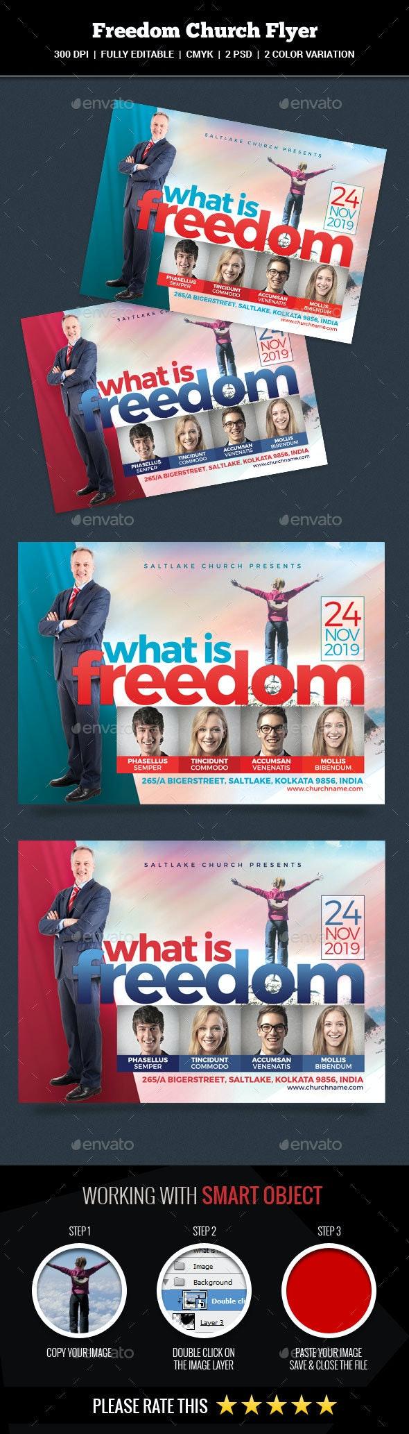 Freedom Church Flyer - Church Flyers