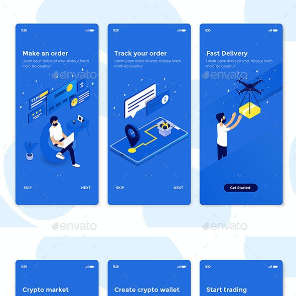Modern User Interface Screen Template