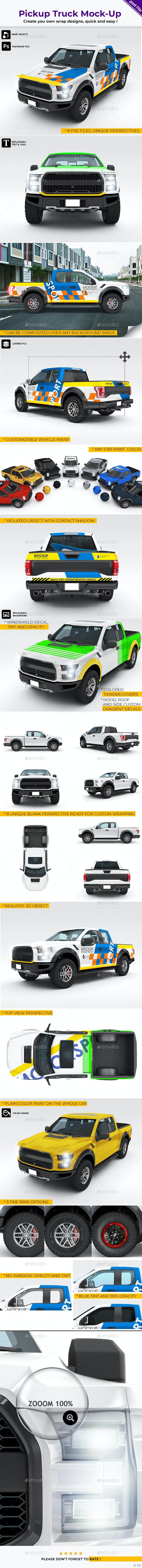 Pickup Truck - Mockup - Vehicle Wraps Print