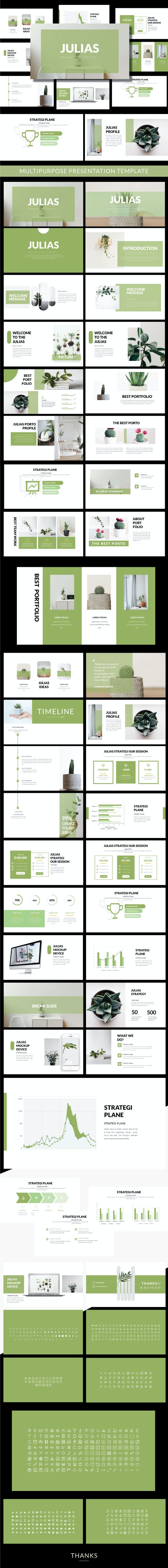 Julias Creative Google Slide - Google Slides Presentation Templates