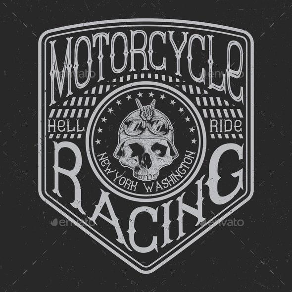 Motorcycle Emblem - Miscellaneous Vectors