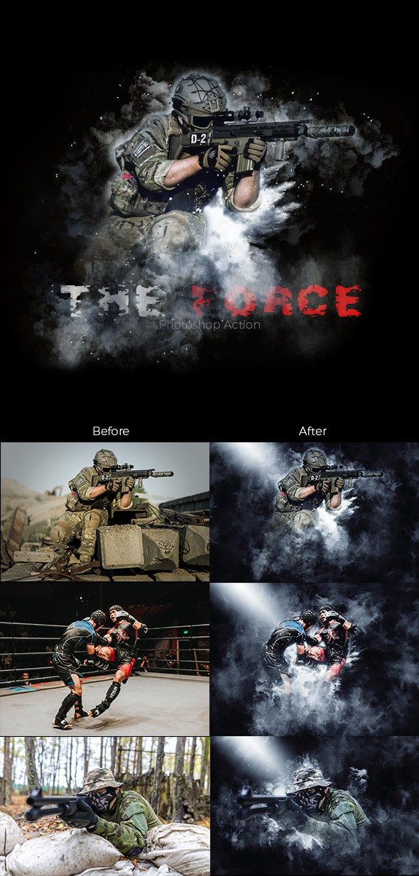 The Force Photoshop Action (Smoke Dust & Mist) - Photo Effects Actions