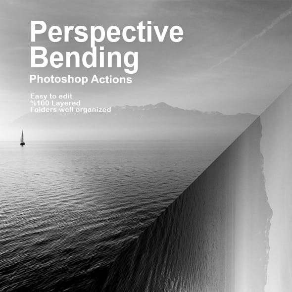 Perspective Bending Photoshop Actions