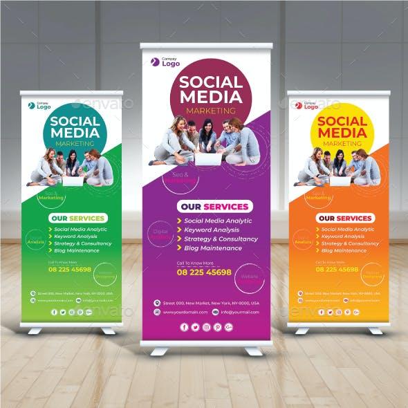 Social Media Marketing Roll Up Banner