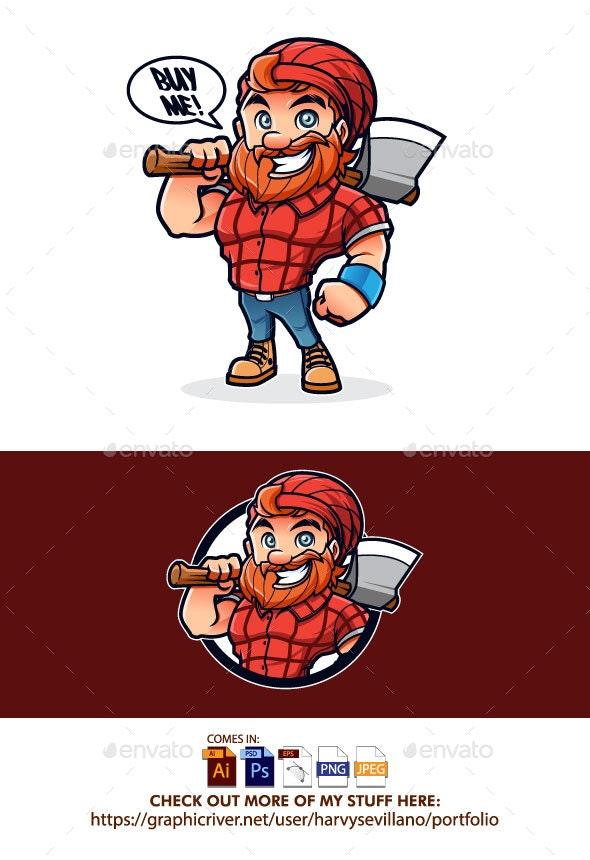 Friendly Lumberjack Vector - People Characters