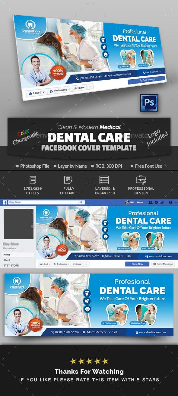 Dental Facebook Cover Template - Facebook Timeline Covers Social Media