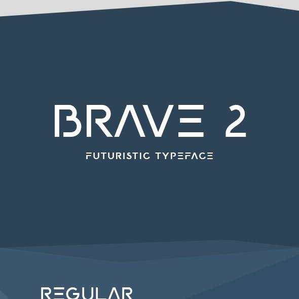 BRAVE 2 Futuristic Font