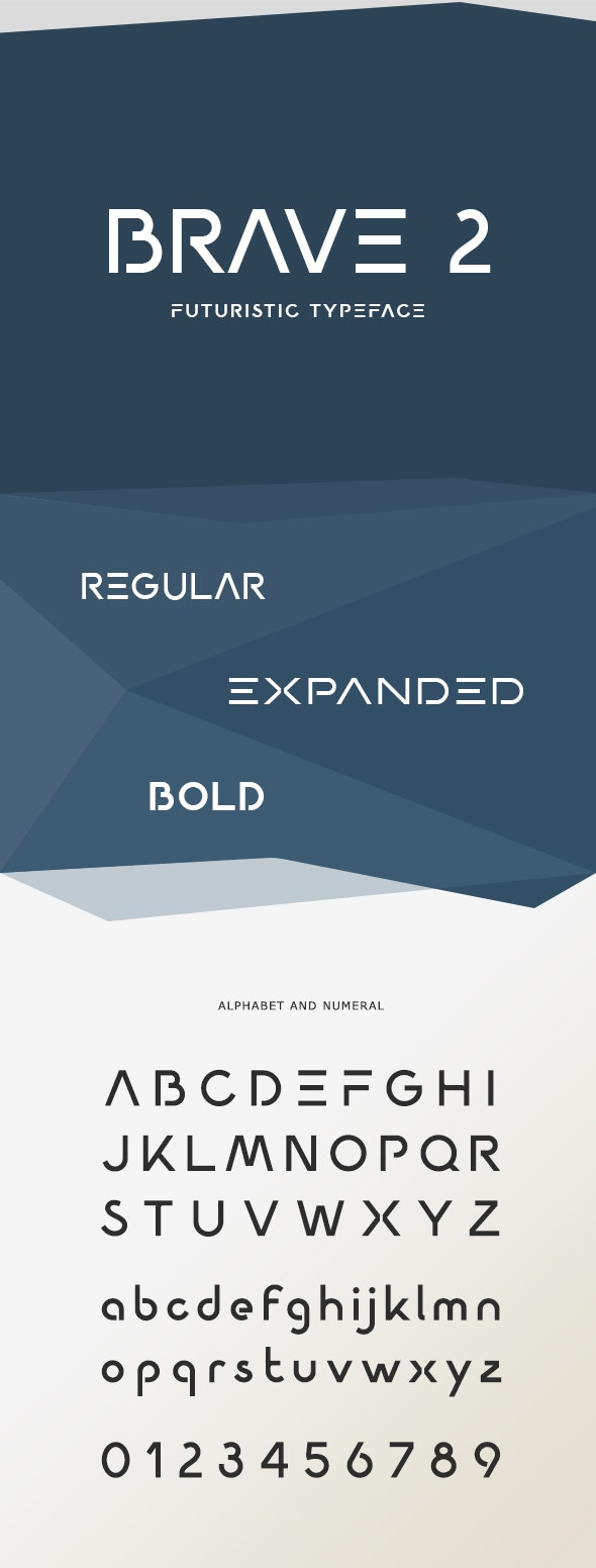 BRAVE 2 Futuristic Font - Futuristic Decorative