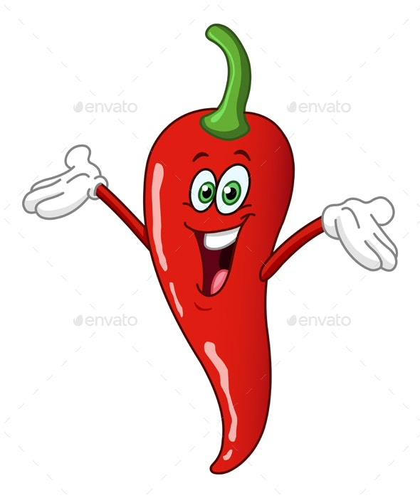 Chili Pepper Cartoon - Food Objects