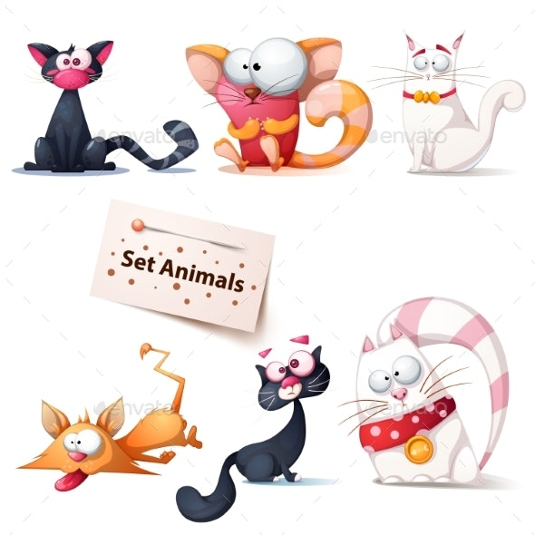 Cat Illustrations - Animals Characters