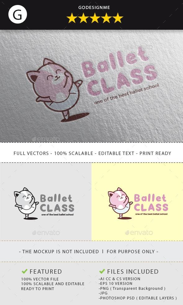 Ballet Class Logo Design - Vector Abstract