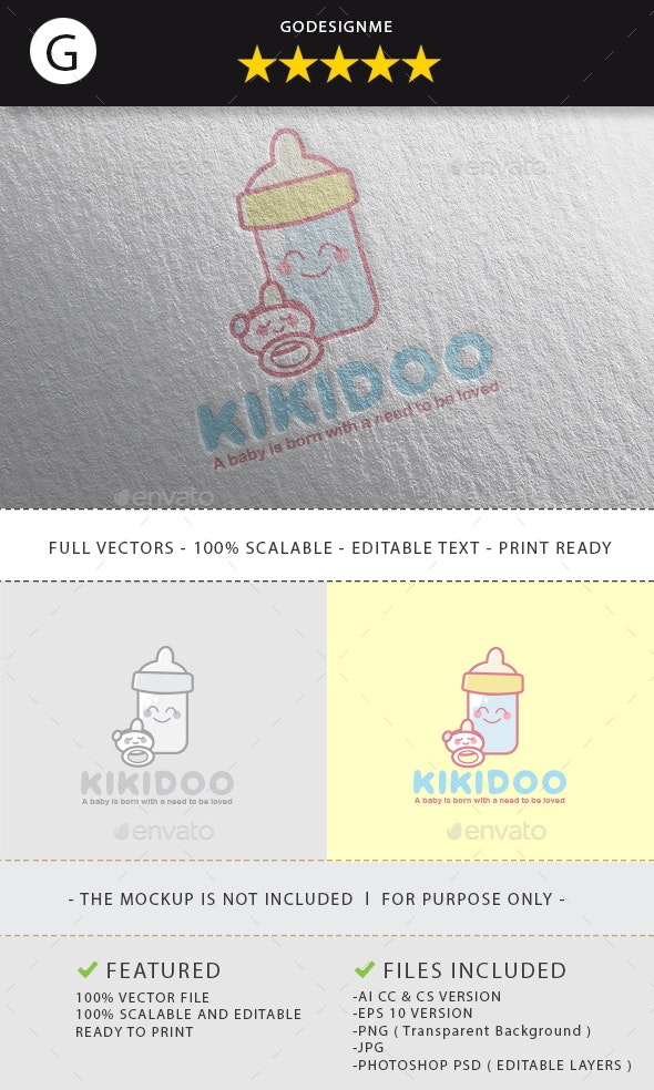 Kikidoo Logo Design - Vector Abstract