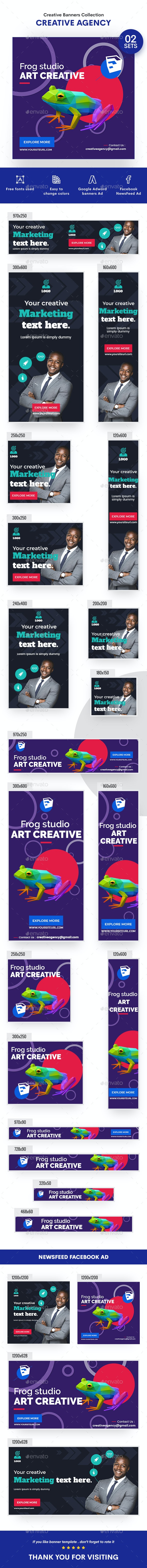 Multipurpose, Business, Startup Banners Ads - 02 Sets - Banners & Ads Web Elements