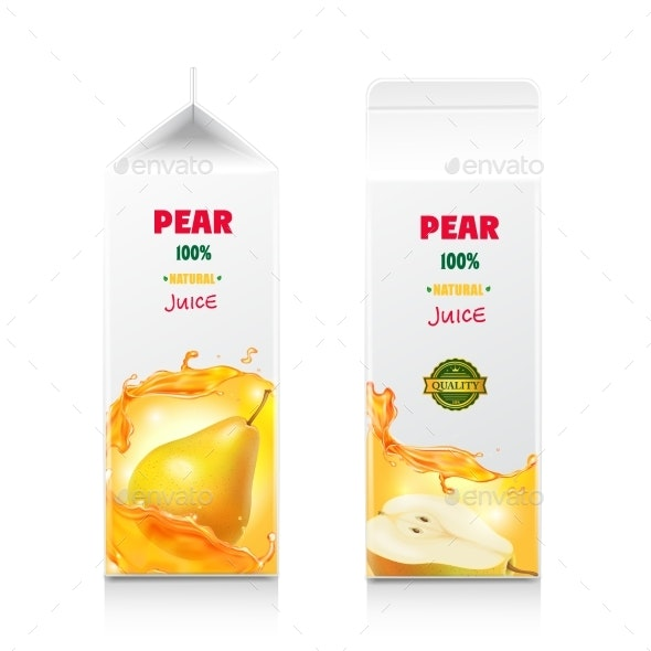 Pear Juice Package Design - Food Objects