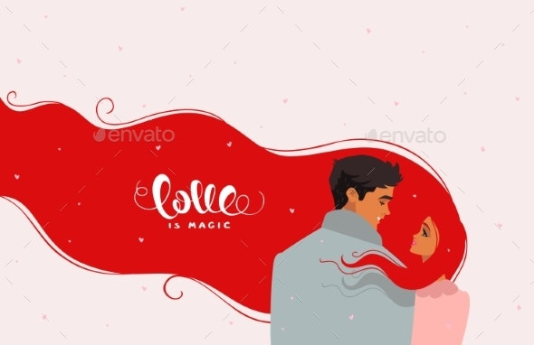 Couple Romantic Red - People Characters
