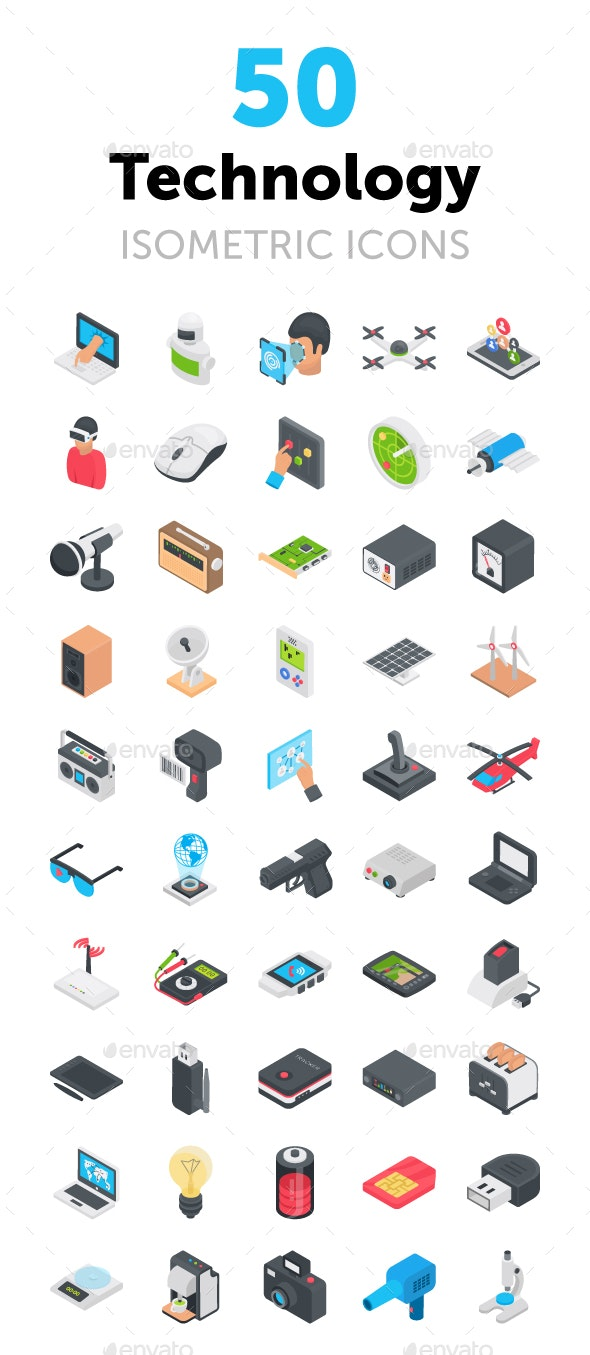 50 Technology Icons - Icons