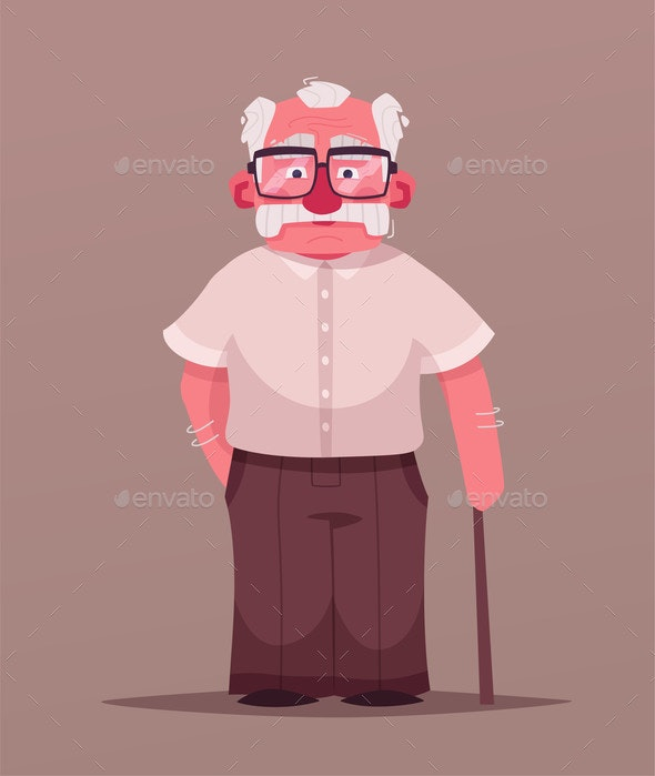 Happy Grandpa - People Characters