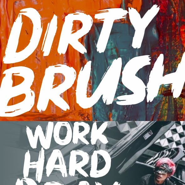 Dirty Brush Font