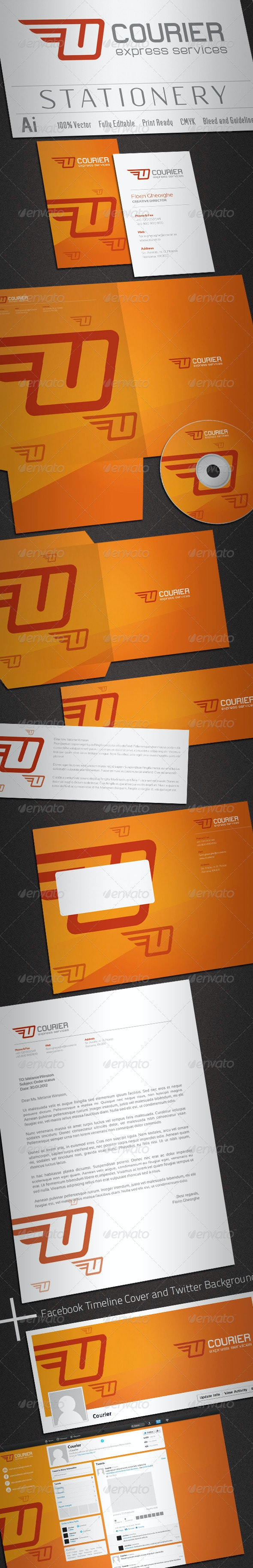 Courier Stationery - Stationery Print Templates