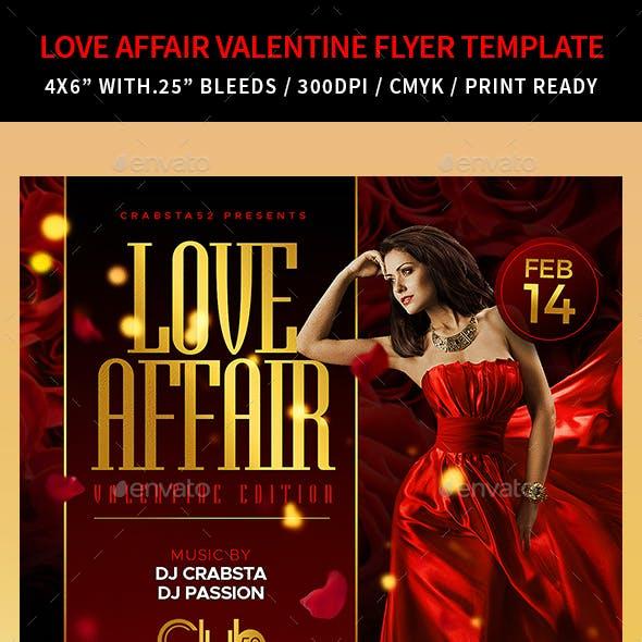Love Affair Valentine Flyer Template