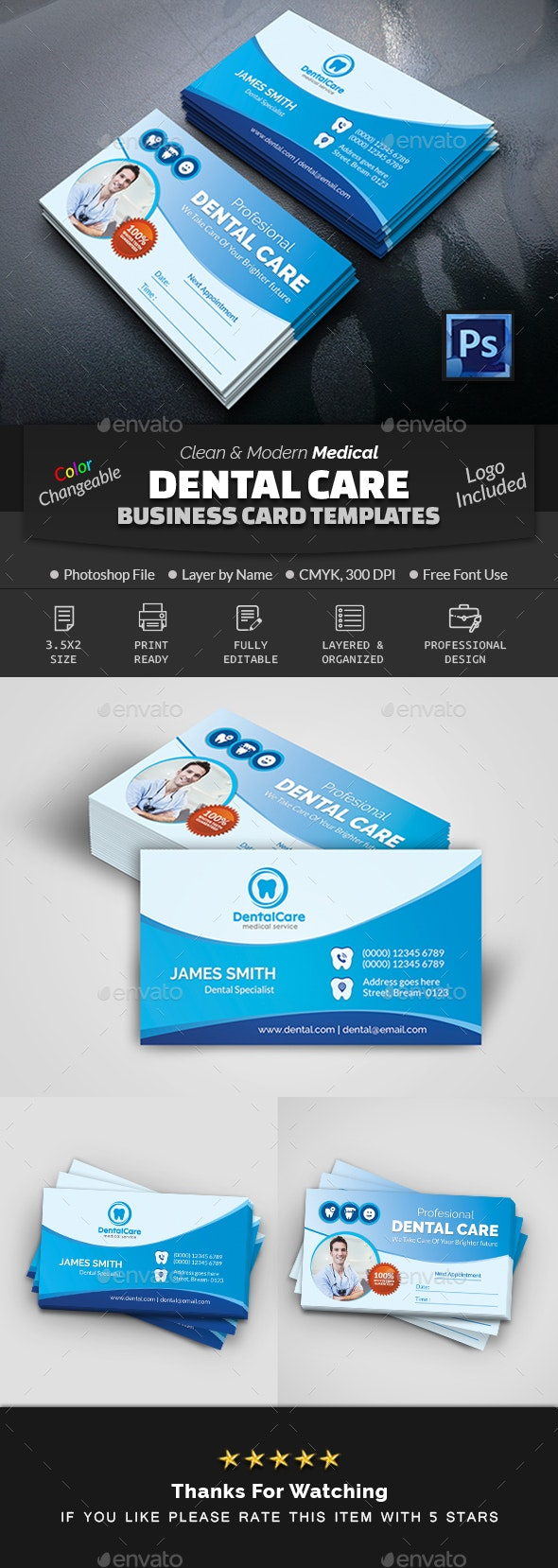 Dental Business Card - Industry Specific Business Cards