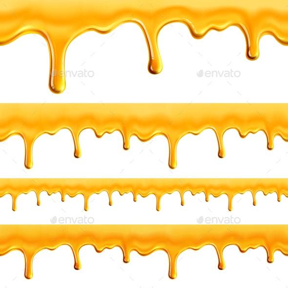 Honey Seamless Pattern - Food Objects