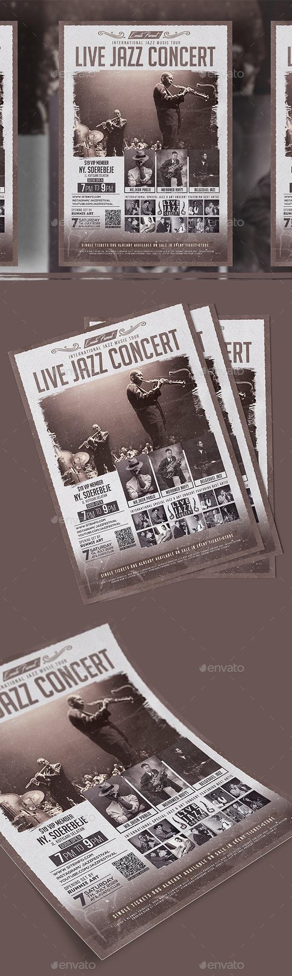 Live Jazz Concert Flyer - Concerts Events