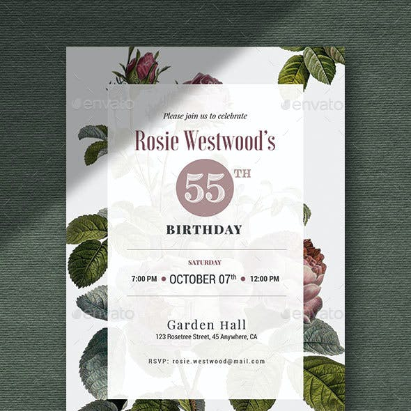 GARDEN - Birthday Invitation