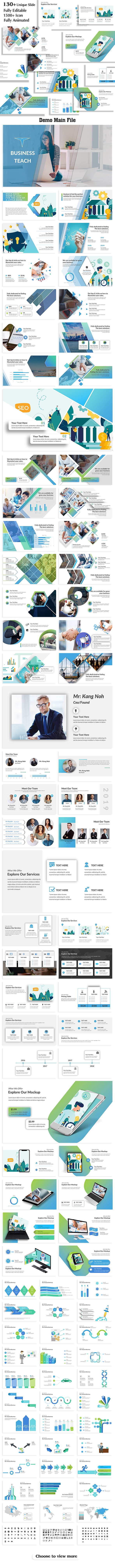 Business Teach Keynote Template - Business Keynote Templates