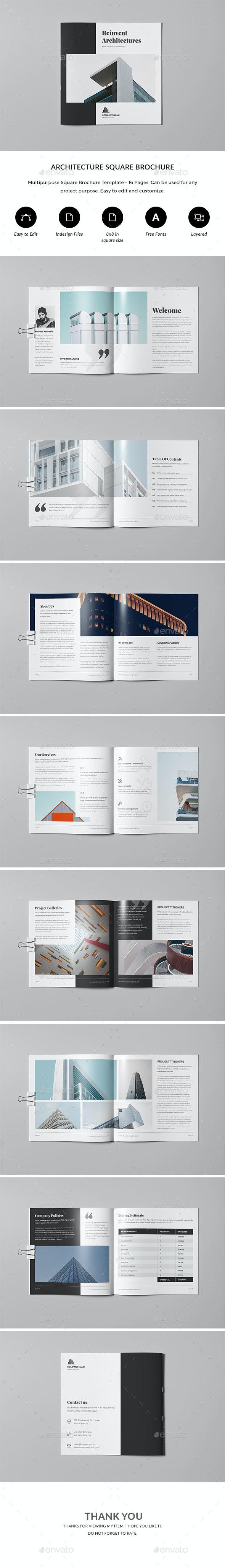 Architecture / Multipurpose Brochure Indesign Template - Corporate Brochures