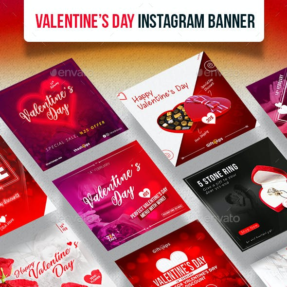 Valentines Day Instagram Banner