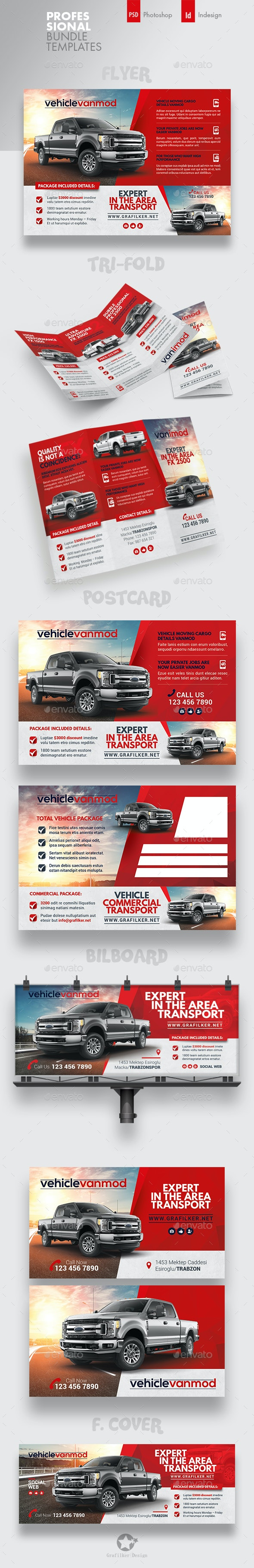 Commercial Vehicle Bundle Templates - Corporate Flyers