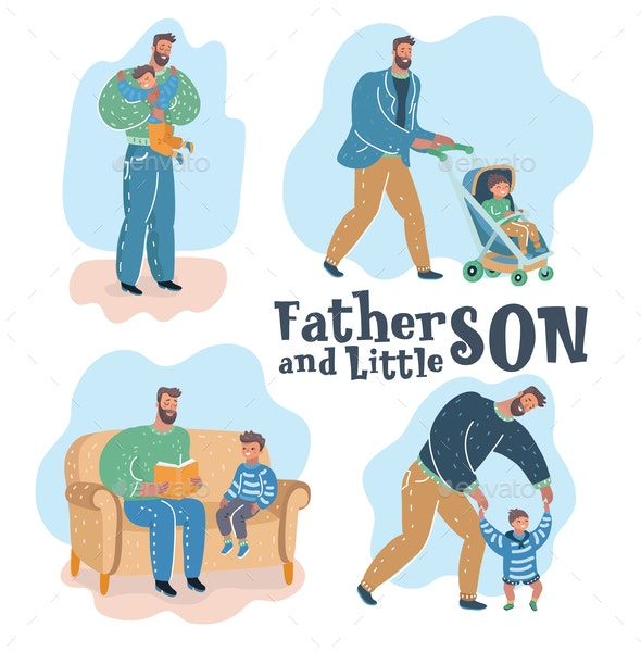 Son and Father - People Characters