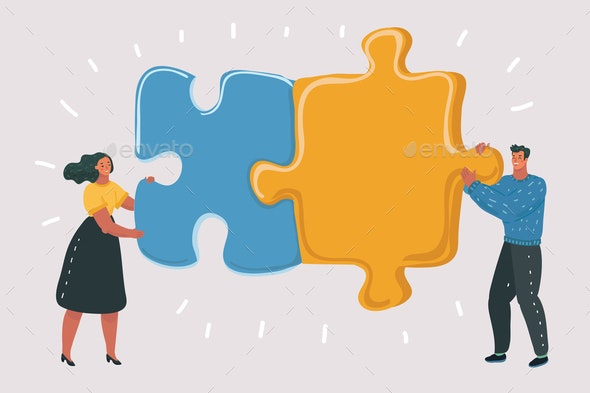 Puzzle in Hands - Concepts Business