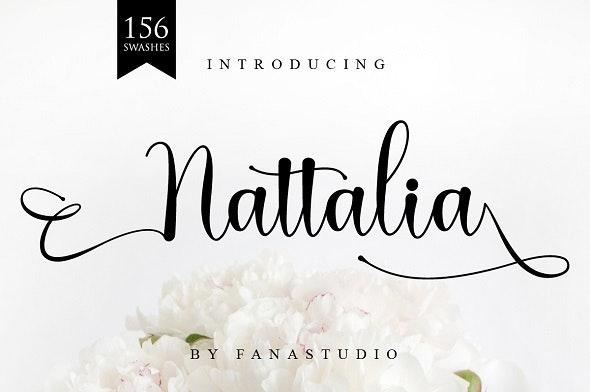 Nattalia Script - Calligraphy Script